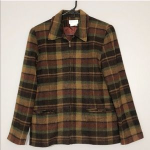 Van Heusen | Vintage Plaid Flannel Blazer jacket